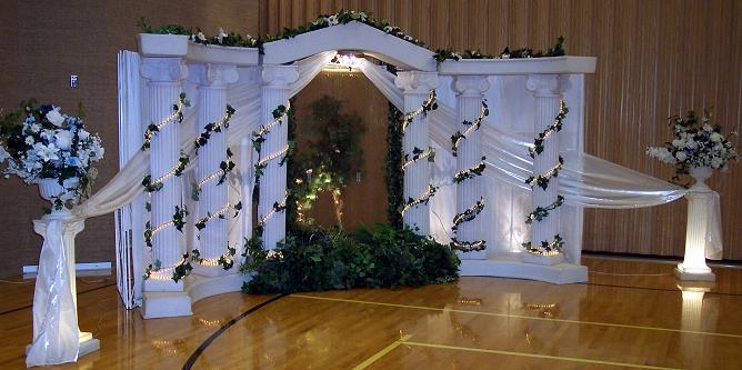 Waterfall Roman Pillars For Wedding Decoration Pillars Decoration
